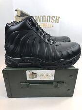 NIKE AIR MAX FOAMDOME FOAMPOSITE BOOTS BLACK-BLACK SZ 9 (843749 002)