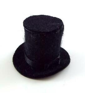 Dolls House Miniature Hand Made Accessory Gentlemans Top Hat