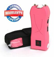Pink 650 Million Volt Mini Stun Gun Self Defense Weapon with LED Light