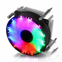 3 Pin RGB LED CPU Cooler Heatsink Fan Aluminum for Intel LGA1150/1151/1155/1156