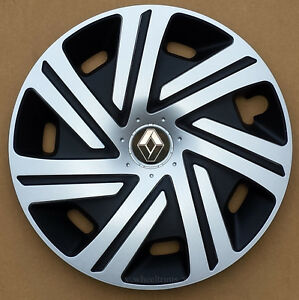 """Brand New silver/black  16"""" wheel trims to fit Renault Trafic"""