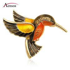 Fashion Women Colorful Enamel Metal Flying Bird Animal Brooch Pin Jewelry Gift