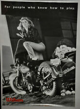 CHRIS EVERT 'With Motorcycle' Wilson Tennis Poster Vintage (147)