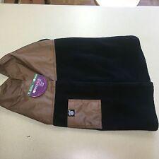 Petrageous Designs Dog Jackson Jacket Brown With Black Fleece X- Large