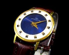 Luch 2209 wrist mens watch AU10 23 Jewels Slim Gold plated  USSR RARE Serviced