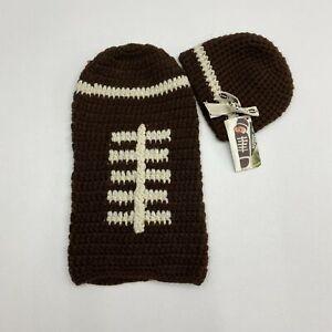 NWT Mud Pie Newborn Photo Shoot Football Knit Sweater Set Costume