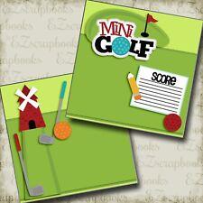 MINI GOLF - NPM - 2 Premade Scrapbook Pages - EZ Layout 2563