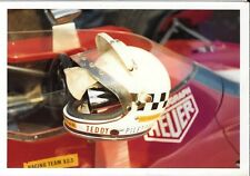 TEDDY PILETTE HELMET ON CAR F1 PHOTOGRAPH TEAM VDS RACING TEAM