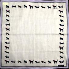 "NWT Handkerchief Mini Square Pocket Unisex Purple Striped Dog Cotton15.5"""