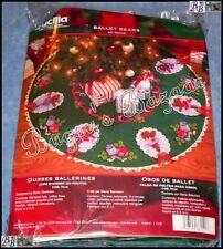 Bucilla BALLET BEARS Tree Skirt Felt Applique Christmas Kit - 86151