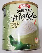 Caffe D'Vita Green Tea Matcha Smoothie Mix with Real Matcha Powder 2 lbs