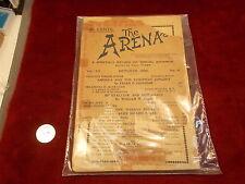 "RARE OLD VTG ANTIQUE BOOK/MAGAZINE ""THE ARENA"" OCTOBER 1989 ""SOCIAL ADVANCE"""