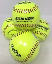 "New Rawlings Official League Softball Recreational Practice 11"" Ywcs11 Set Lot 4"