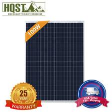 HQST 100W Watt 12V Volt Poly-crystalline Solar Panel 100W Off Grid RV Marine