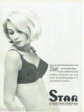 PUBLICITE ADVERTISING 116  1965  Star  soutien gorge sous vetements