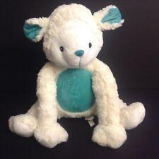 Piccolo Bambino Lamb Sheep Plush Baby Toy Lovey Turquoise 12 Inch