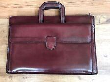 VTG HARTMANN American Belting Leather Attache Briefcase Bag Mens Brown Burgundy