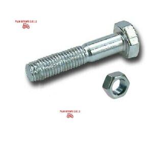 Vite a testa esagonale M12X70 (pz. 10)  DIN 931 filettatura 8.8 CON DADO BULLONE