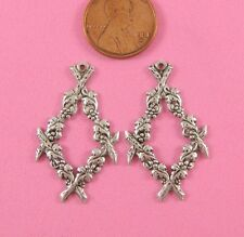 Antique Silver Floral Earring Findings - 2 Pc(s)