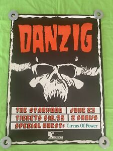 """Rare DANZIG Promo Poster """"The Starwood"""" Circus Of Power Tour Poster 24x18"""