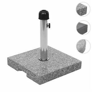 Sonnenschirmständer HWC-F92, Schirmständer Schirmhalter, Granit