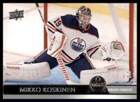 2020-21 UD Series 1 French #72 Mikko Koskinen - Edmonton Oilers