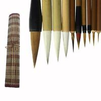 Bamboo Traditional Chinese Calligraphy Brushes Set Supplies Painting R6B5