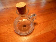 TOP! Schöne kleine Karaffe mit Korken Flacon Glaskaraffe in neuwertigem Zustand!