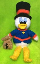 KNITTING PATTERN - Scrooge McDuck inspired chocolate orange cover / 26 cms toy