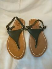K Jacques Saint-Tropez Sandals Green Leather barely used UK Size 5