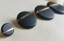 LUXURY METAL BLACK & GOLD BUTTONS – ROUND, STRIPE, 11MM, 23MM, 30MM, 40MM, UK