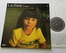 Leo FERRE L'espoir (Vol.14) LP 33T BARCLAY 90.314 (RE- 1979) EX+/NEUF