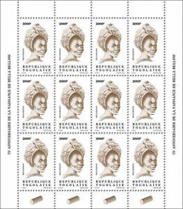 Togo Definitives Stamps 2020 MNH Bella Bellow Singers Music Reissue 2000F 12v MS