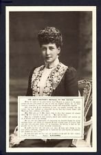 Postcard ROYALTY England UNITED KINGDOM The QUEEN MOTHER MESSAGE to the NATION