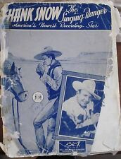 Rare Vintage Sheet Music from Country Legend Hank Snow  1949