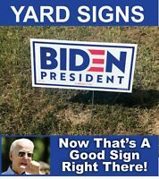 5 Joe Biden 2020 Campaign Political Yard Signs with Wire Stands
