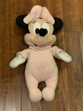"Baby Minnie Mouse Plush Kids Girls Baby Soft Toy Pastel Pink - 13"" Tall"