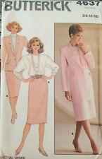 Vtg Butterick pattern 4637 Misses unlined Jacket, Skirt, Top sz 14, 16, 18 uncut