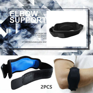 Elbow Brace 2 Pack Tennis Elbow Brace with Gel Compression Pad for Women and Men