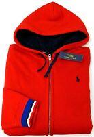 Orig $148 Polo Ralph Lauren Hoodie Long Sleeve Red Hooded Sweatshirt Mens XL NEW