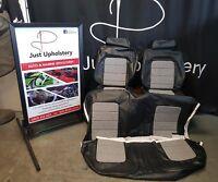 HQ Monaro GTS sedan Seat covers black roebuck vinyl with hounstooth  Inserts