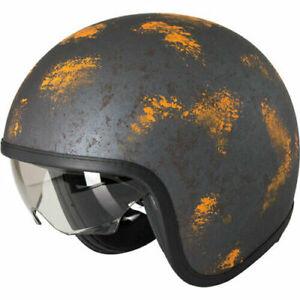 Duchinni D388 Vintage Open Face Motorcycle Helmet Rust Crash Lid Motorbike