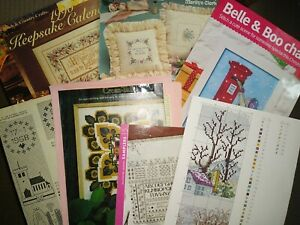 VARIOUS CROSS STITCH CHARTS & BOOKLETS