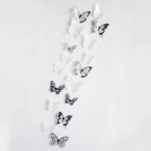 Butterfly 3d Crystal Wall Sticker Beautiful Butterflies Art Decals Home 18pcs