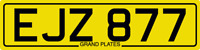 DATELESS PRIVATE NUMBER PLATE EJZ 877 CHERISHED REG COVER NON DATING EJ INITIALS