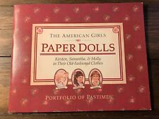 The American Girls Paper Dolls Portfolio of Pastimes Old Fashioned 1990 Uncut