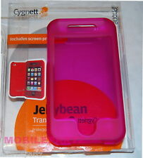 Cygnett iPhone 3G/3GS Jellybean Pink Transparent Hard Case & Displayschutz