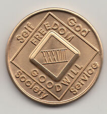38 Years XXXVIII - Narcotics Anonymous recovery medal token chip coin
