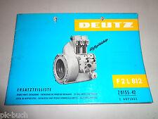 Catalogue de Pièces Rechange/Catalogue/Reservdelslista Moteur Deutz F2 L 812