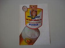 advertising Pubblicità 1971 BIRRA BEER WUHRER
